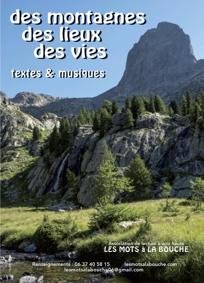 Des montagnes, Des lieux, Des vies lectures a voix haute mots a la bouche lecture scenique
