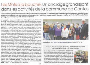 article du journal Le Patriote sur l'assemblée générale Les mots à la Bouche