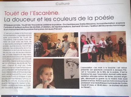 Touët de l'Escarène – Lettre Paillon