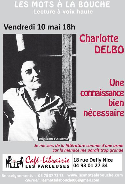 connaissance bine necessaire charlotte delbo lecture scenique les mots a la bouche lecture voix haute