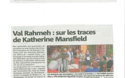 Val Rahmeh : sur les traces de Katherine Mansfield