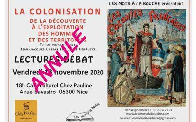La colonisation ; annulé mais on continue !